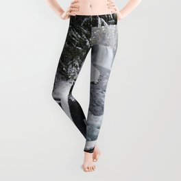 The Wild McKenzie River Waterfall - Nature Photography Leggings