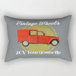 Vintage Wheels: Citroën 2CV Fourgonnette Rectangular Pillow