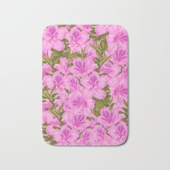 Violet Flowers Bath Mat