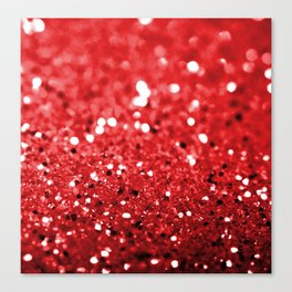 Glitter Red Canvas Print