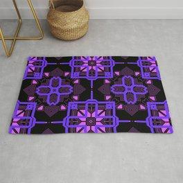 Purple Lilac Techno Shapes Pattern Rug