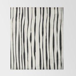 Retro Stripe Reverse Throw Blanket