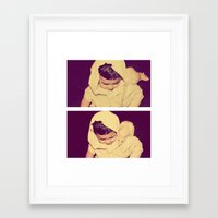 modest mouse Framed Art Prints featuring Modest  by BlushBoundJazzy