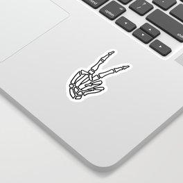Peace skeleton hand Sticker
