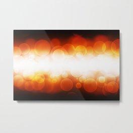 banner of orange defocus light Metal Print