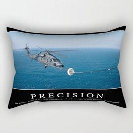Precision: Inspirational Quote and Motivational Poster Rectangular Pillow