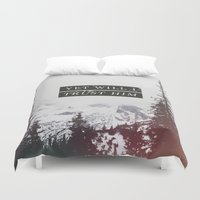 pocketfuel Duvet Covers featuring YET WILL I TRUST by Pocket Fuel