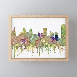 Buffalo, New York Skyline SG - Faded Glory Framed Mini Art Print
