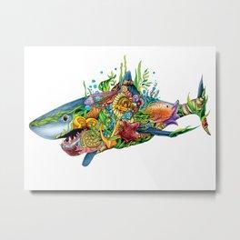 Colored Sea Shark Metal Print