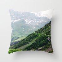 switzerland Throw Pillows featuring Switzerland by Tana Helene