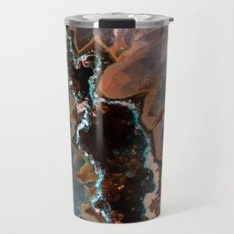 Earth treasures - Blue and orange agate Travel Mug