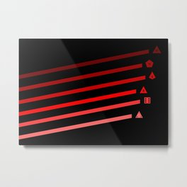 Red Streaking Dice Metal Print