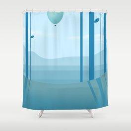 Go Ballooning Shower Curtain