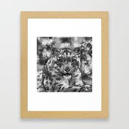 AnimalArtBW_Leopard_20170601_by_JAMColorsSpecial Framed Art Print