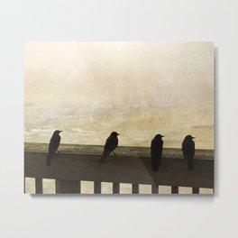 Four Blackbirds Metal Print
