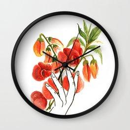 botanical hands Wall Clock