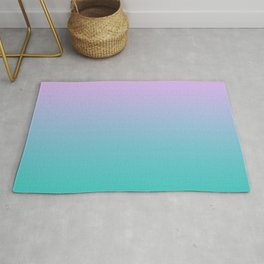 Pink Teal Ombre Gradient Summer Pattern Rug