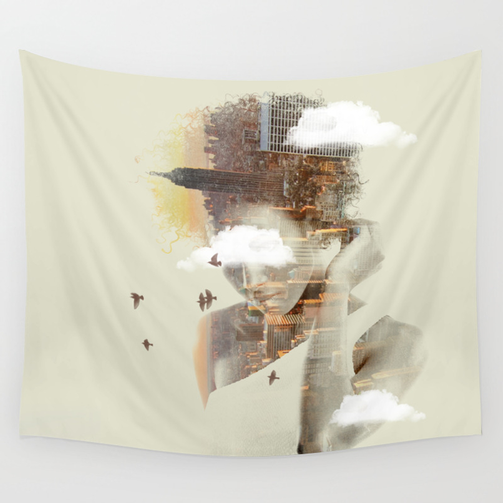 New York City Dreaming Wall Tapestry by Nivpezz TPS8050957