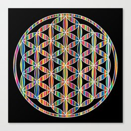Flower of Life Colored | Kids Room | Delight Canvas Print