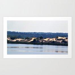 Landscape on the river # 2 Art Print