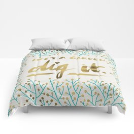 Dig It – Gold & Turquoise Comforters