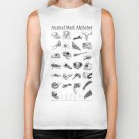 animal skull Biker Tanks featuring Animal Skull Alphabet by Stephan Brusche