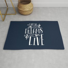 Dwell on Dreams - Dark Blue Rug