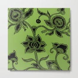 Vintage Floral Greenery Metal Print