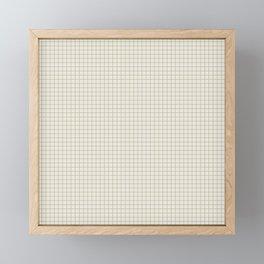Sage green small grid minimal pattern Framed Mini Art Print
