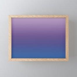 Ultra Violet Blue Lilac Ombre Gradient Pattern Framed Mini Art Print