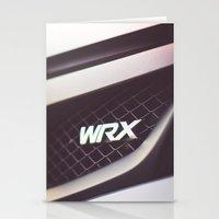 subaru Stationery Cards featuring Subaru WRX Badge by Jacob Brcic