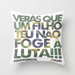 #ChangeBrazil Throw Pillow
