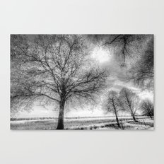 The Ghostly Farm Canvas Print