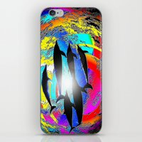 dolphins iPhone & iPod Skins featuring Dolphins by JT Digital Art