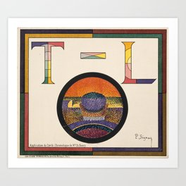 Application of Charles Henry's Chromatic Circle Art Print