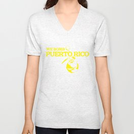 We Bomb Puerto Rico Unisex V-Neck