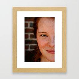 nicole in half Framed Art Print