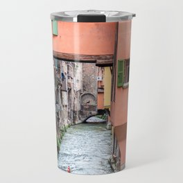 Beautiful view in the medieval center of Bologna Travel Mug