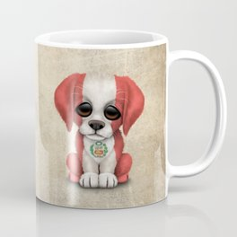 Cute Puppy Dog with flag of Peru Coffee Mug