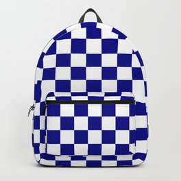 Jumbo Blue and White Australian Racing Flag Checked Checkerboard Backpack