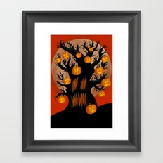 Halloween Tree Framed Art Print