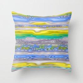 Topography Stripe 3 Throw Pillow