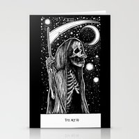tarot Stationery Cards featuring Death Tarot by Corinne Elyse
