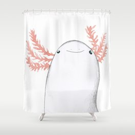 Axolotl Close-Up Shower Curtain