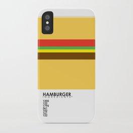 Pantone Food - Hamburger iPhone Case
