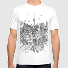 Toronto! (version #2) Mens Fitted Tee White X-LARGE