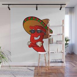 cartoon mexican pepper Wall Mural