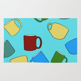Coffee Mugs! Rug