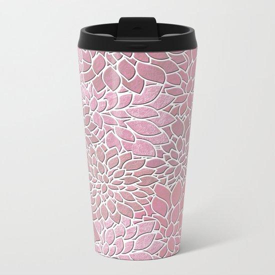 Floral Abstract 27 Metal Travel Mug