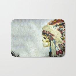 INDIAN WITH HEAD DRESS Bath Mat